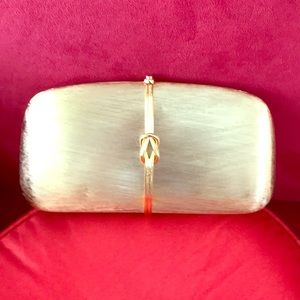 Vintage Rodo Italy brushed gold clutch